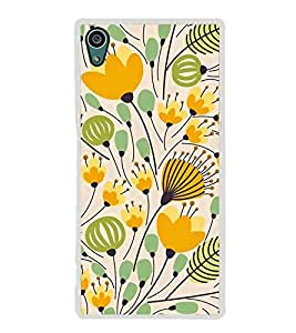 PrintVisa Designer Back Case Cover for Sony Xperia Z5 :: Sony Xperia Z5 Dual 23MP (Floral Pattern Vector Design)