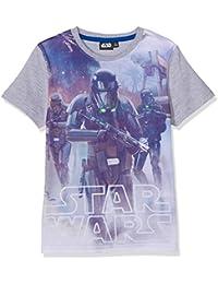 Star Wars-The Clone Wars Darth Vader Jedi Yoda Garçon Tee-shirt - gris