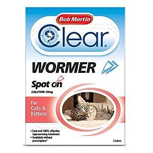 PET-597662 Bob Martin Spot On Dewormer - Cat/Kittens (2tube)