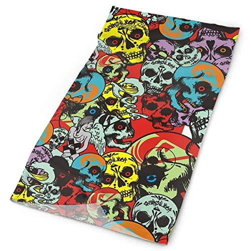 ZENGYAN Headbands Skull Headwear Bandana Sweatband Gaiter Head Wrap Mask Neck Outdoor Scarf