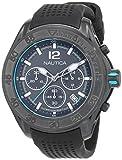 Nautica Herren Chronograph Quarz Uhr mit Silikon Armband NAD25000G