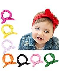 Lucky Will 8 pcs bebé niña Cruz algodón diadema hairband tocado pelo banda headwear lazos para el pelo Clips para bebés