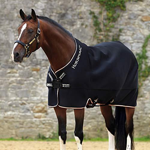 Horseware Rambo Airmax Kühler Teppich Mit Disc-Verschluss 140cm Black/Tan, Orange & Black