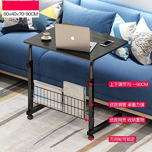JiaQi Bewegliche Laptop-Schreibtisch Für Bett,höhenverstellbar Sofatisch Mit Rollen,pc-Laptop-Tisch Lazy Table Zusammengesetzten Sofa Frühstückstablett-e 60x40x70cm(24x16x28inch) - Höhenverstellbare Pc-wagen