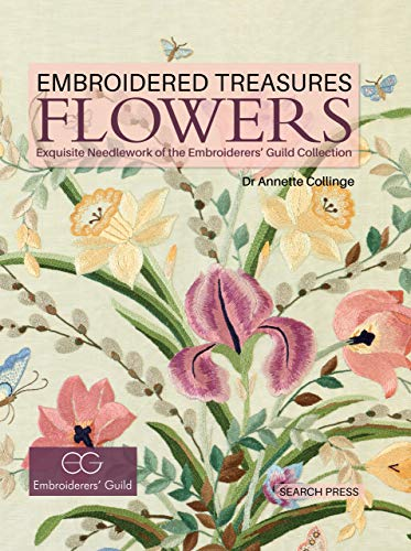 Embroidered Treasures: Flowers (English Edition) Blackwork-design