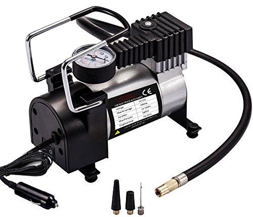 Reifen Luft Kompressor (Auto Luftpumpe, Teetox 100 PSI Luft Kompressor 12V DC tragbare Reifen Inflator mit Zigarettenstecker für Autos, Fahrräder und Bälle)