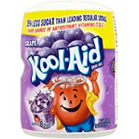 Kool-Aid Drink Mix, Sugar Sweetened Grape, 19-Ounce Container (Pack of 4)