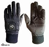 FINGER TEN Golfhandschuhe Herren Winter Mit Ballmarker Grip Performance 1 Paar Golf Handschuhe Kaltes Wetter Winddicht Wasserdicht Größe S M ML L XL (L)