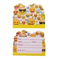 Tianfuheng Unique Emoji Kids Party Decoration Bunting Banner Paper Cup Plated Hat,Supplies