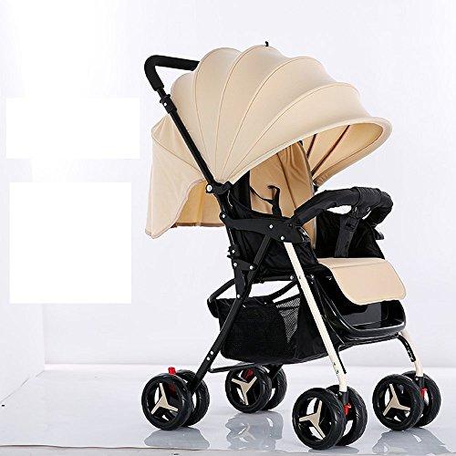 DACHUI Kann lügen, baby Regenschirm, leichte Falten Neugeborene, Kinderwagen, Kinderwagen, Trolleys (Farbe: khaki)