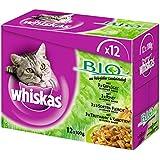 Whiskas Bio Katzenfutter, 48 Beutel (4 x 12 x 100 g)