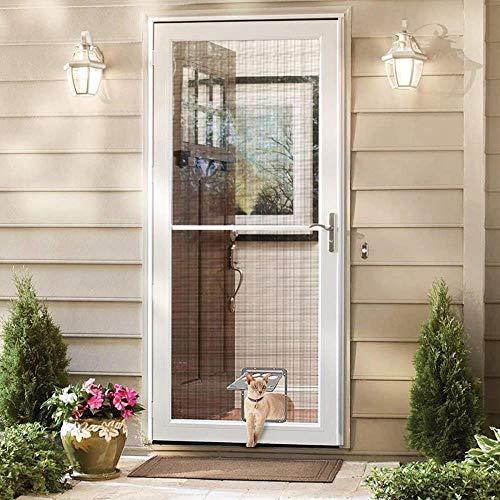 Pet Screen Door Flap Screen Automatische abschließbare Schwarze Tür für kleine Hunde- und Katzentore , Leises Dämpfen und schnelle Rückkehr für Hunde und Katzen, grau