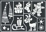 Kreul 74808 - Window Style Schablone Kinderweihnacht
