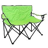 Charles Bentley - Doppel-Campingstuhl für 2 Personen - zusammenklappbar
