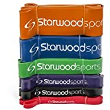 Resistance Bands - Pull Up Bands – Exercise Bands for CrossFit - Powerlifting - Assisted Pull Ups - Mobility Bands (One Band) for Men and Women