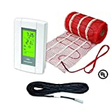 Elektrische strahlenden Boden Hitze Heizung System 50Fläche Matte mit Aube Digital Boden Sensing Thermostat
