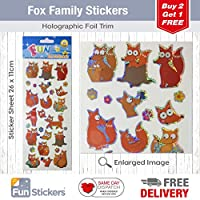 Fun Stickers Fox Family 987