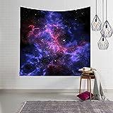 GuDoQi Galaxy Universum Sternenhimmel Tapisserie Wandbehang Wohnheim Dekor Polyester für Schlafzimmer Strand Blatt Tischdecke
