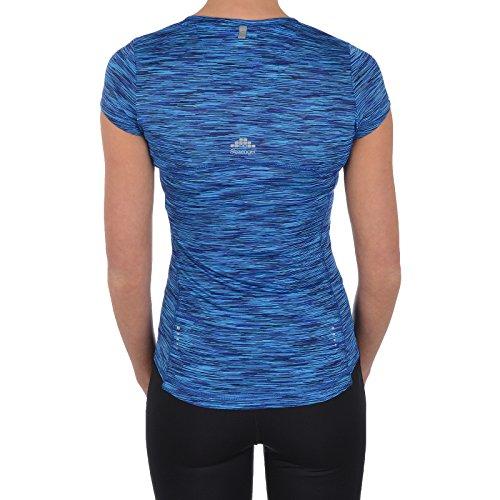 Slazenger - T-shirt de sport - Col en V - Manches Courtes - Femme Turquoise