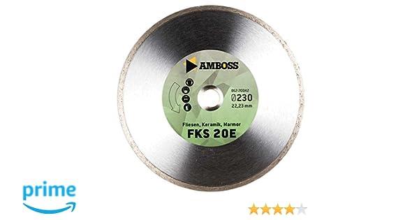 Diamant-Trennscheibe /Ø 105 mm x 22,2 mm Fliesen // Keramik // Marmor gesintert Amboss FKS 20 Segmenth/öhe: 5 mm
