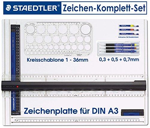 Staedtler Mars micro 775 SC WP3 Druckbleistift, rutschfeste Gummigriffzone, Set mit 3 Linienbreiten...