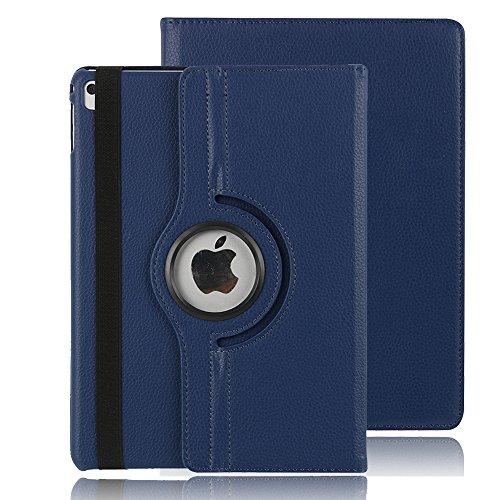 iPad 4 Hülle, TechCode® Magnetic Detachable Hidden Multi-angle Folio 360 Grad Drehende Stand Cover Smart Hülle für iPad 2/3/4 (iPad 2/3/4, Blau)