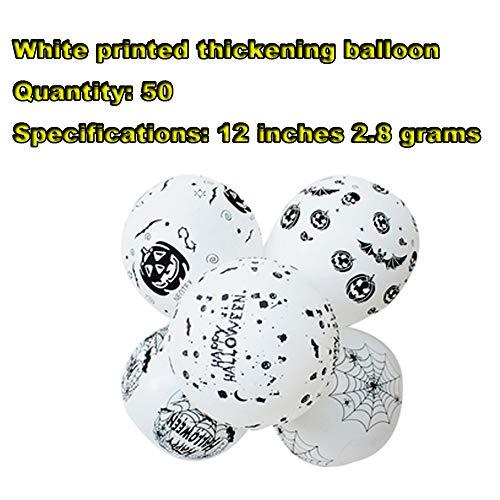 FreF 50 Stück Luftballons Schwarz Gold Ballons mit Luftballon für Damen Herren Geburtstag Abschluss Halloween Party - Ein Von Einer Art Kostüm Zum Verkauf