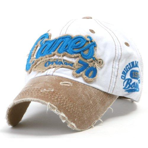 ililily Distressed Vintage Cotton embroidered Baseball Cap Snapback Trucker Hut (ballcap-507-9) (Mlb-mesh-visor)