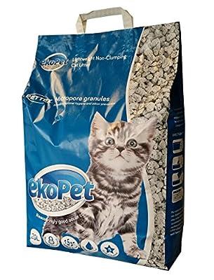 EkoPet Lightweight Non Clumping Micropore Cat Litter, 20 l