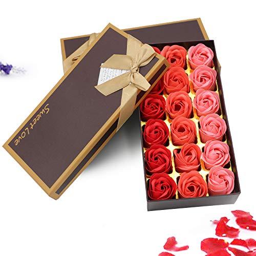 ZEHNHASE Lot de 18 Roses Parfumée Savon Fleur Coffret...
