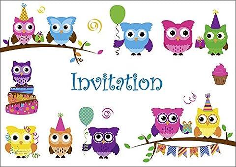 Carte D Invitation Anniversaire - Carte d' en francais Lot 10 invitations