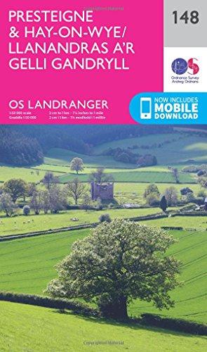 Price comparison product image Landranger (148) Presteigne & Hay-on-Wye / Llanandras ar Gelli Gandryll (OS Landranger Map)