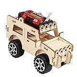 Xiton 1pc Woodcraft Spielzeug Holz Jeep Auto-Baukasten HolzModell 3D Holz Puzzle Kinder Jeep Auto pädagogische Spielzeug-DIY-Kit für Kinder Kinder