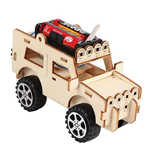 HIilai 1pc Woodcraft-Spielzeug aus Holz Jeep Auto-Baukasten Holz-Modell 3D Holzpuzzle Kinder Jeep Auto pädagogisches Spielzeug DIY-Kit für Kinder Kinder -