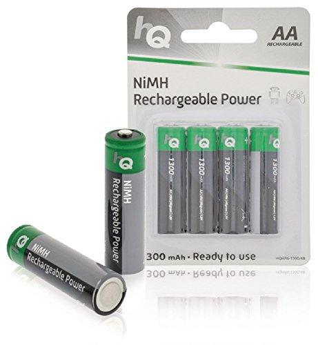 4 Stück Highpower NiMH-Akku AA 1.2 V 1300 mAh HR6 - für Telefone Tastaturen Taschenlampen etc. - Akkus Wiederaufladbare Batterien