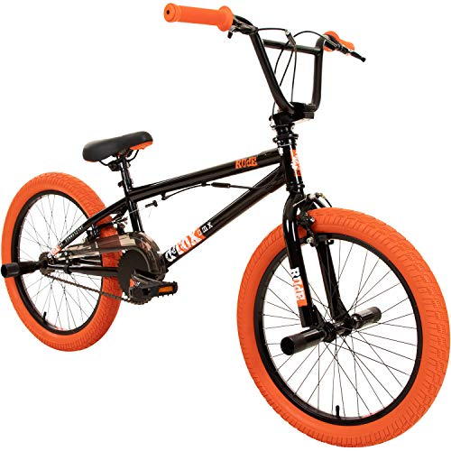 deTOX 20' BMX Freestyle Kinder Neu Anfänger ab 130 cm, 7 J, Farbe:schwarz/orange