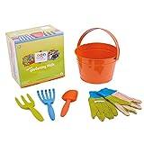 Attrezzi da giardinaggio per bambini Twigz 0831 I miei primi attrezzi da giardinaggio (Secchiello arancio)