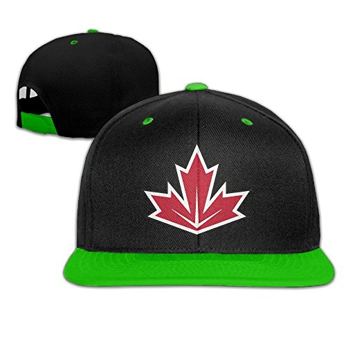 Feruch 2016 World Cup Of Hockey Team Canada Contrast Color Hip Hop Baseball Caps Red (5 Colors) KellyGreen
