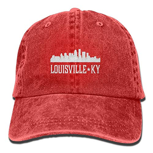 RAINNY Louisville Kentucky Skyline KY Cities Unisex Embroidered Cowboy Hat Sun Cap