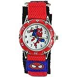Kids Spider Man Waterproof Spiderman Watch Fast Wrap Velcro Strap Boys Girls Children Birthday Gift Watches (Red 1#)