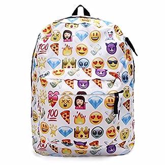 King Do Way Emoji mochila escolar de lona para portátil, para niños, niñas, estudiantes, viajes, libros, bolsa de hombro