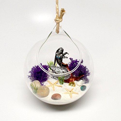 Pixie Schein zum Aufhängen Terrarium Mermaid Garden Kit. Unter the Ocean Szene