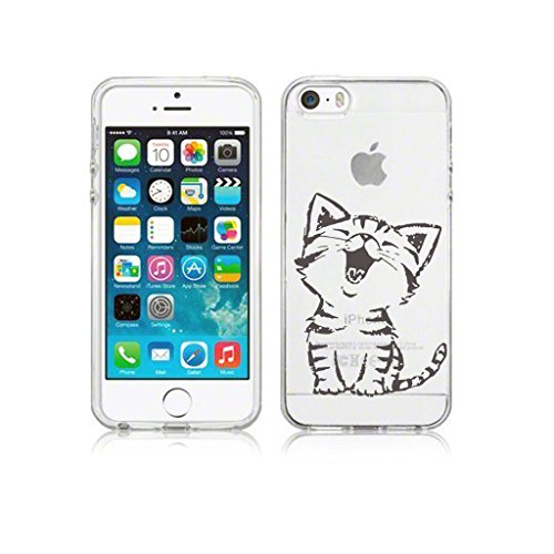 Custodia Cover Per iPhone 5 / 5S / 5G / SE , WenJie Ewha Trasparente Silicone Sottile Back Case Molle di TPU Trasparente per Apple iPhone 5 / 5S / 5G / SE WM90