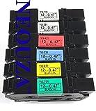 Neouza compatibile per Brother P-Touch TZ TZe nastro etichetta 12mm (1,2cm) x 8m (8m) Set of 6 Color Packs