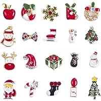 Frcolor 3D Nail Art Decals Navidad Tema DIY Uñas Consejos de Decoración Encantos Accesorios 20 Piezas