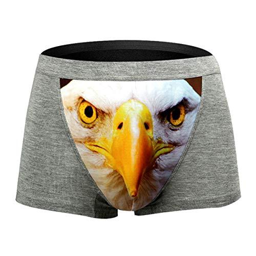 B-commerce Herrenunterwäsche - 3 D Print Cotton Soft Breathable Pouch Boxer Unterhose Mittlere Kurze Höschen
