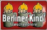 Blechschild Nostalgieschild Berliner Kindl Flaschenbiere rot Bier Berlin retro Schild Brauerei