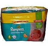 90Pampers Active, bébé, Gr. 4, 8–14Kg, la couche pour le jour et la nuit en Giant Paquet