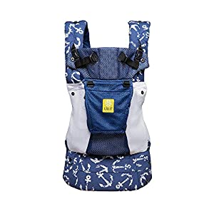 SIX-Position, 360° Ergonomic Baby & Child Carrier by LILLEbaby - The Complete All Seasons (Black of The Same Stripe)   14