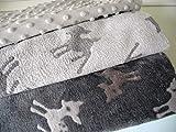 Lottashaus no12 3x Fleece Stoffpaket 1,5 Meter Beige Grau